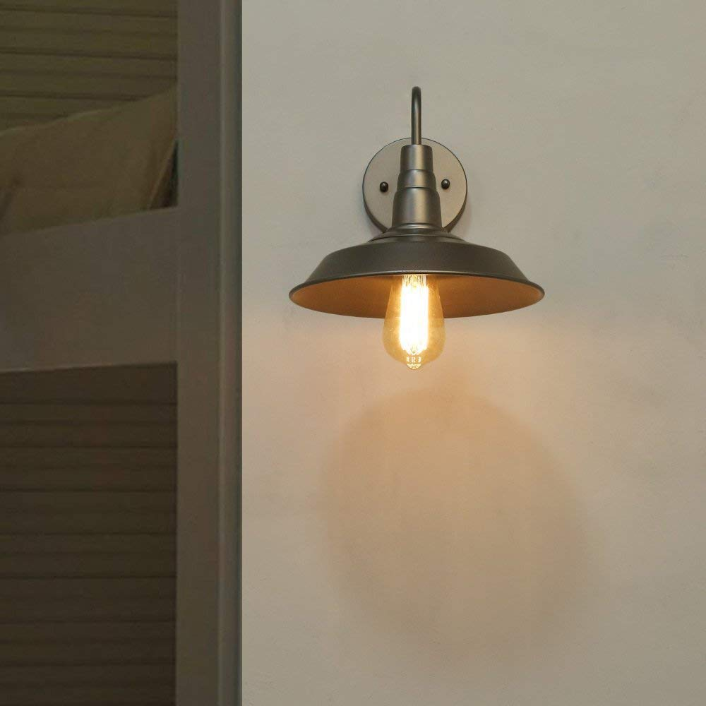 Log barn a03313 wall mount lamp 1 light mid century industrial style sconce light fixtures in hand crafted silver finish