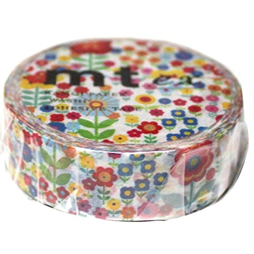 MT Washi Masking Tape, Littler Flowers Garden, 15mm x 10m (MTEX1P101)