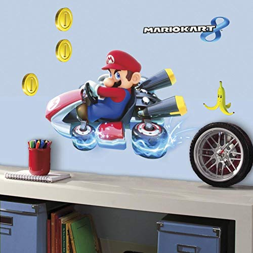 RoomMates Nintendo Mario Kart 8 Peel And Stick Giant Wall Decals ()