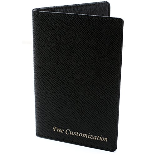 Free Engraving Genuine Leather US Passport Holder, Slim Card Case Cover Travel...