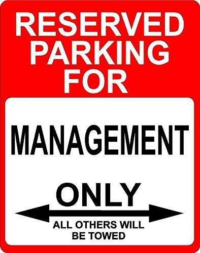 Teisyouhu Funny Sign Gift Management Reserved Parking Only Others Metal Sign Wall Plaque Decoration Street Sign ()