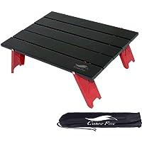 CuteeFox アルミ ロールテーブル ミニテーブル 軽量 アウトドア用 折りたたみ式 コンパクト キャンプ BBQ 登山 レジャー 収納袋付 006