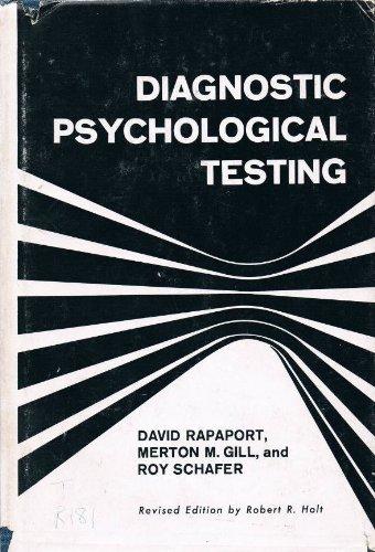 Diagnostic Psychological Testing