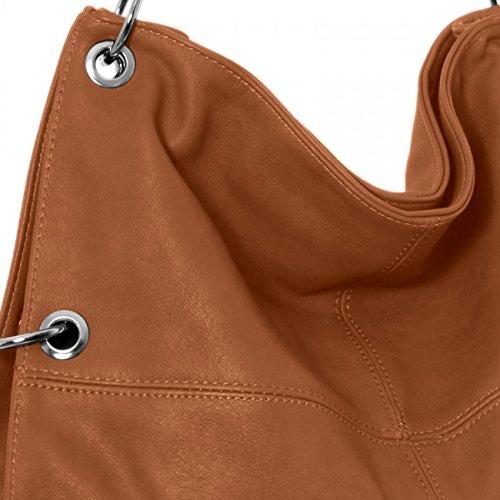 Mujer Coñac Bolso de Bandolera en para Colores de Varios CASPAR TS561 Bolso Mano 6qwXX7