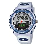 Kids boy Watches 50m Digital-Analog Water-Proof Sport Swimming Digital Watch for Boys Girls-White