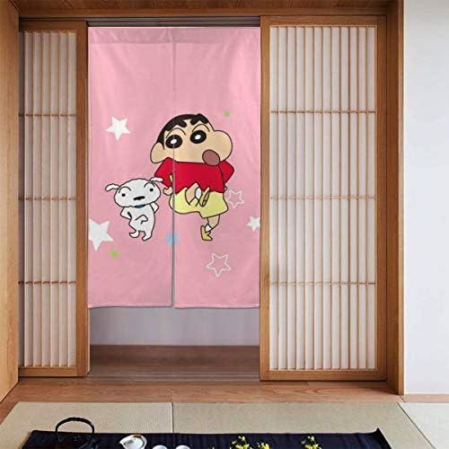 ラブリークレヨンしんちゃん 網戸 玄関 86 X 143cm 玄関カーテン 取付簡単 ドア/ベランダ/玄関/勝手口