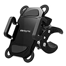 Universal Phone Bike Mount, Siensync 360-degree Rotating Shock-Protected Bicycle Handlebar Mount Holder for iPhone 7, 7 Plus and Other Smartphones