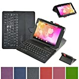 Mama Mouth Bluetooth Keyboard case--Coustom Design Slim Stand PU Leather Case Cover With Romovable Bluetooth Keyboard For 8