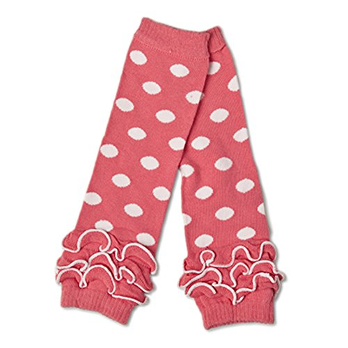 Polka Dot Leg Warmers (Pink with White Polka (Strawberry Sweetie Dress Child Costumes)