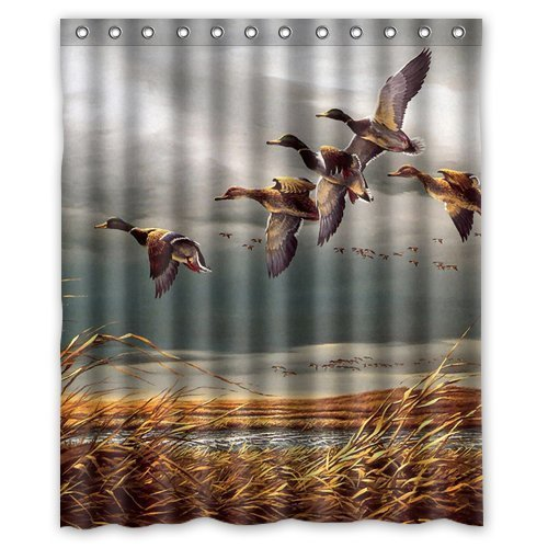 Mallard Ducks Fly In Sky Polyester Bathroom Shower Curtain 60(W)x72(H) Comfortable For - Ironman Tampa