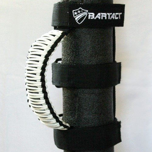 Bartact TAOGHUPBW - Universal Paracord Grab Handles (PAIR) - Made in USA - BLACK/WHITE