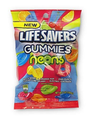 Lifesavers Gummies Neons Flavor Mix, 7 Ounce -