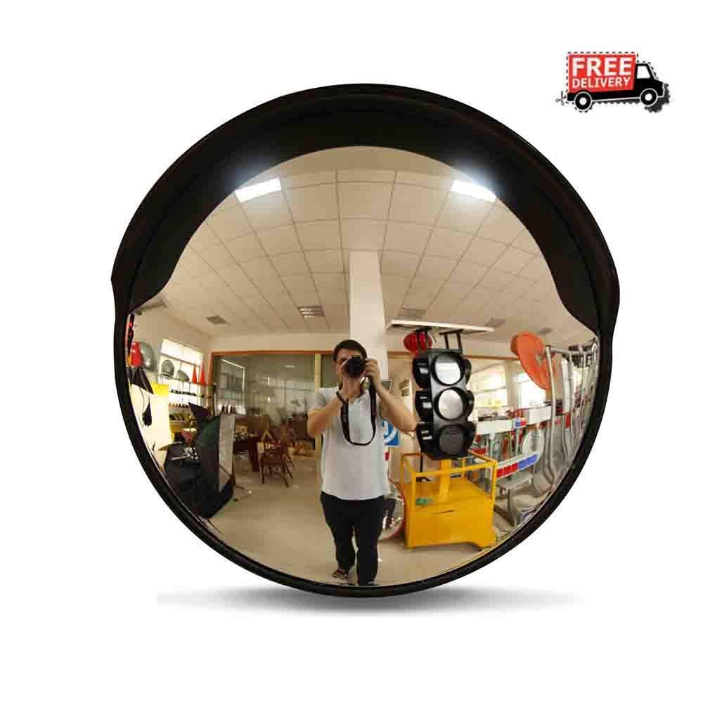 Specchio convesso stradale di sicurezza grandangolare da 60 cm curvo per specchietto di segnalazione del traffico stradale blindato per esterni Specchietti per angolo T0427morto