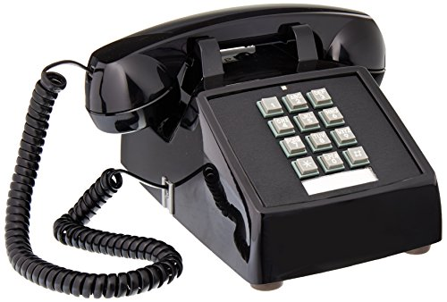 Cortelco Desk Phone, Black (250000-VBA-20M) - Itt Corded Telephone