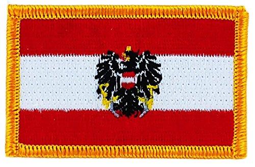 Toppa Ricamata Bandiera Austria Austriaco Aquila Flag thermocollant insigne Akacha