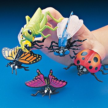 Insect Finger Puppets Variety - 12 (Bug Finger Puppets)