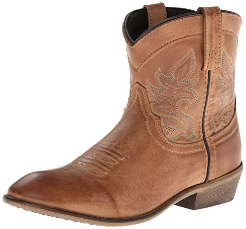 Dingo Women's Willie Western Boot, Antique Tan, 9 M US (Ankle Cowboy Boots)