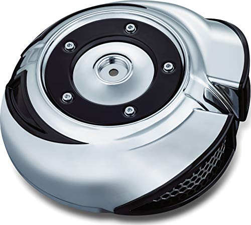 Kuryakyn 8417 Quantum Air Cleaner Cover for 2014-17 Harley-Davidson Motorcycles, Chrome ()
