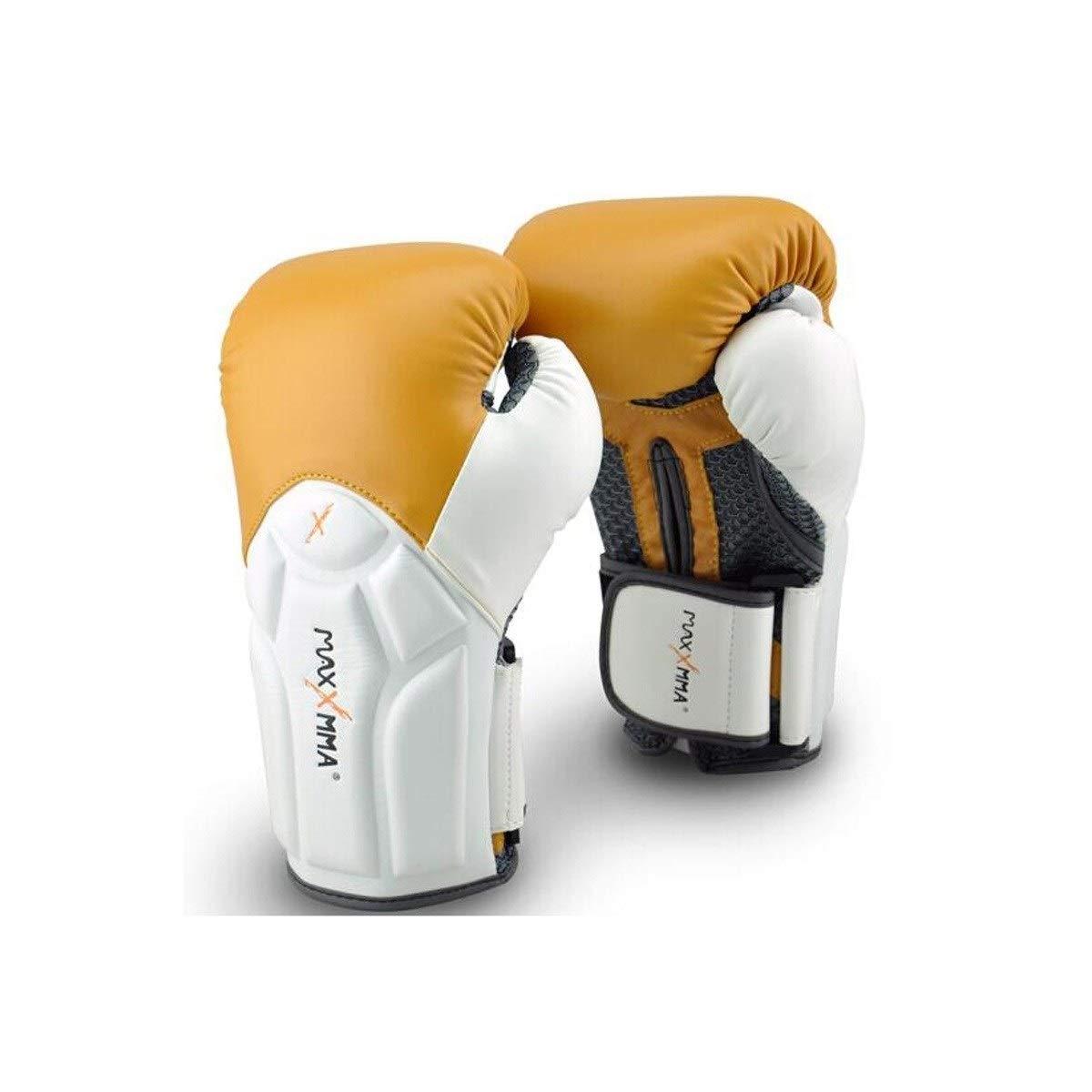 KUCHEQICHE ボクシングリストグローブキャメルフィットネストレーニングムエタイサンダ格闘技ファイティンググローブキャメルファッション12オンス (Color : Multi-colo赤) Multi-colo赤
