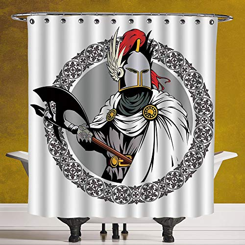 SCOCICI Polyester Shower Curtain 3.0 [ Medieval Decor,Illustration