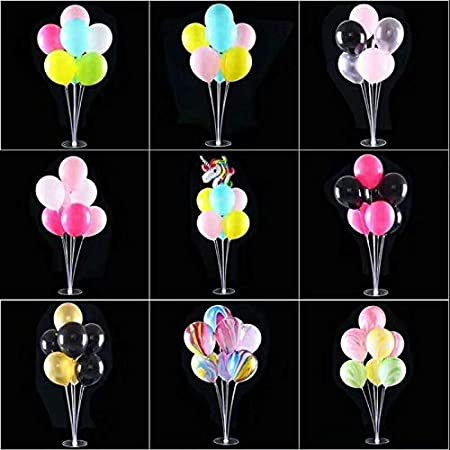 Amazon.com: Pukido Transparent Ballons Table Column Base Wedding Birthday Party Decor Baby Shower Dessert Table Party Decor Ballon Base Table Stand ...