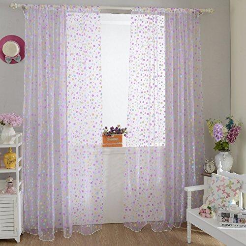 Edal Valance Window Curtains Purple