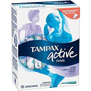 Tampax Pearl Active Tampons Light Unscented 18 Each