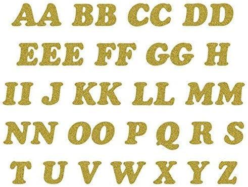 Dorado Termoadhesivo Purpurina Letras Paquete de 40 Letras: Amazon ...