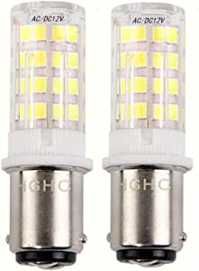5W Ba15d LED Light Bulb AC/DC 12V Daylight 6000K 35W Equivalent, Double Connect SBC Bayonet Ba15d 1141 1156 1073 1093 LED Replacement Lamp for Interior RV Camper Lighting (Pack of 2)