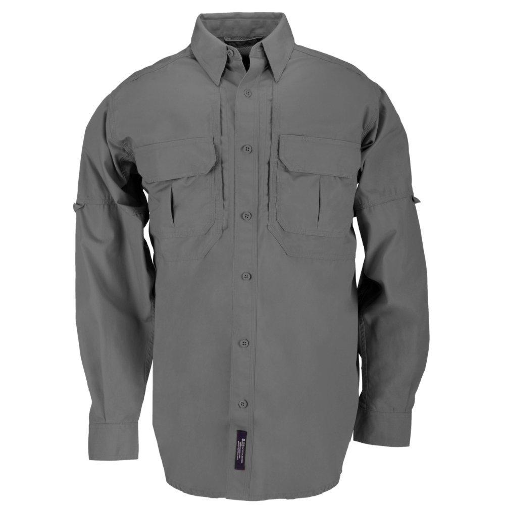 5.11 Tactical Tactical Long-Sleeve Shirt, Grey, X-Large