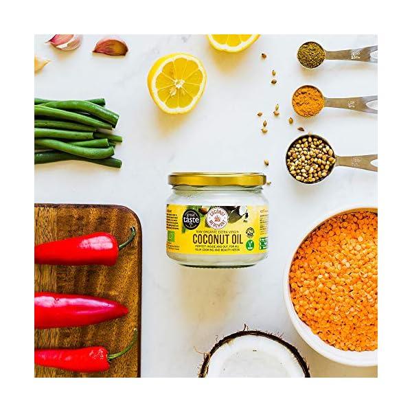 Olio di Cocco Biologico Extra Vergine 300 ml | Crudo e Spremuto a Freddo | Organico e Puro al 100% | Ideale sui Capelli… 3 spesavip