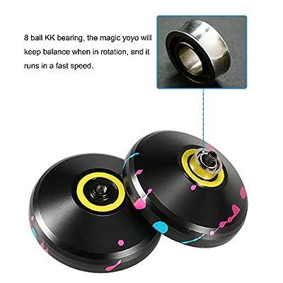 Ametoys Magic Yoyo V3 Unresponsive High Speed Yo-yo Aluminum Alloy CNC Lathe with Spinning String: Toys & Games