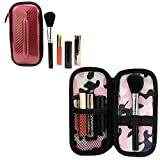 Travel Makeup Cosmetic Bag Case Organizer with brush holder- Madrid Red