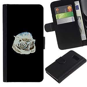 YiPhone /// Tirón de la caja Cartera de cuero con ranuras para tarjetas - Hipster Búho - Sony Xperia Z3 Compact