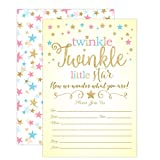 Twinkle Twinkle Little Star Gender Reveal Invitations,...