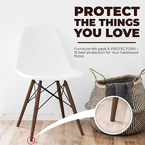 X-PROTECTOR Premium ULTRA LARGE Pack Felt Furniture Pads 181 piece! Felt Pads Furniture Feet ALL SIZES – Your Best Wood Floor Protectors. Protect Your Hardwood Flooring with 100% Satisfaction! by X-Protector (Image #5)