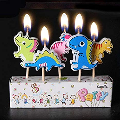 Dinosaur Themed Birthday Cake Candles Candle For Decoration Party Supplies Theme Amazonin Toys Games