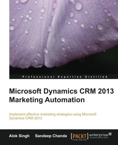 Microsoft Dynamics CRM 2013 Marketing Automation
