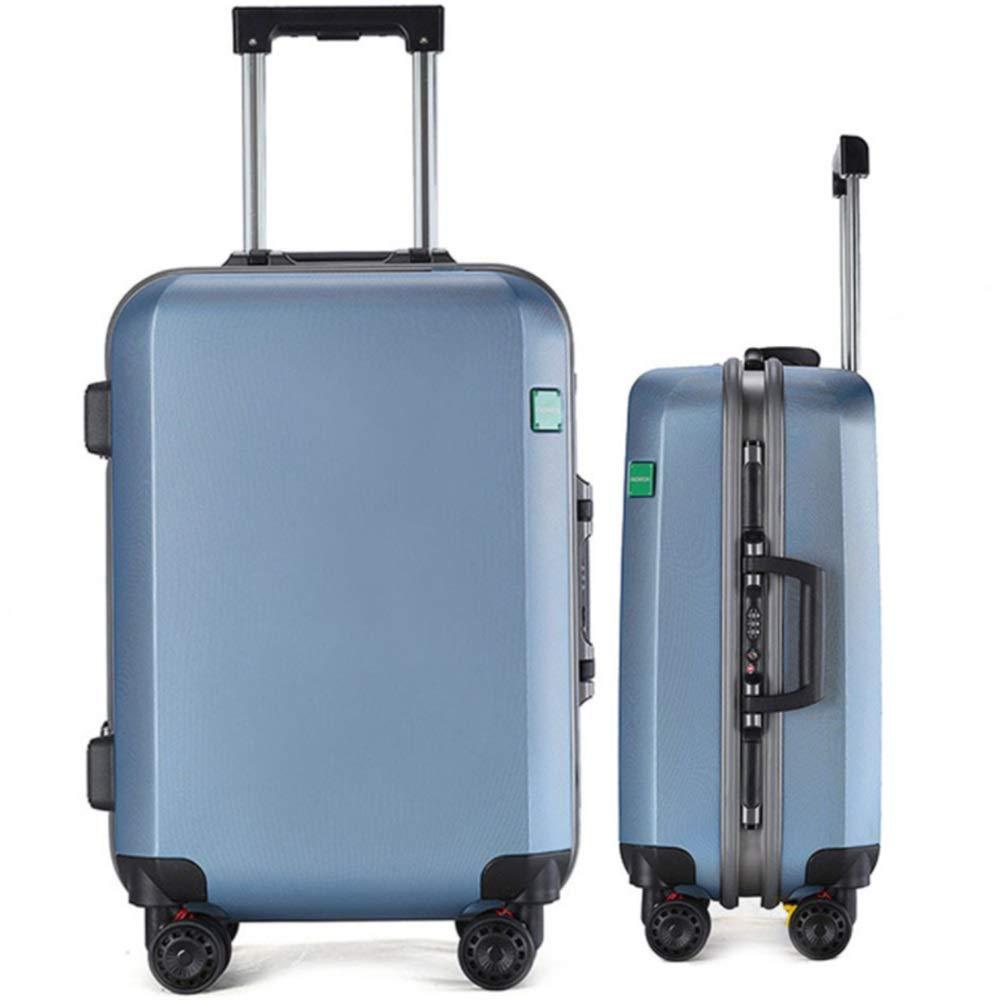 20インチ24インチシンプルデザインブルーハードシェル2ピーススピナー荷物入れ子セット旅行荷物トロリーケーススーツケースキャリーオンアップライトスーツケース360°サイレントスピナー多方向ホイール飛行機フライト&チェックイン 拡張可能な荷物 (色 : 青, サイズ : 20in+24in) B07V4BBR8R 青 20in+24in