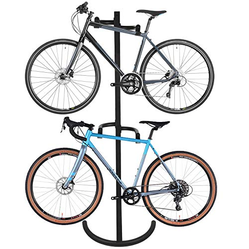 - ZENY Gravity Bike Stand Rack Garage Bike Storage Rack Organizer Wall Bike Rack 2 Bike Parking Stand