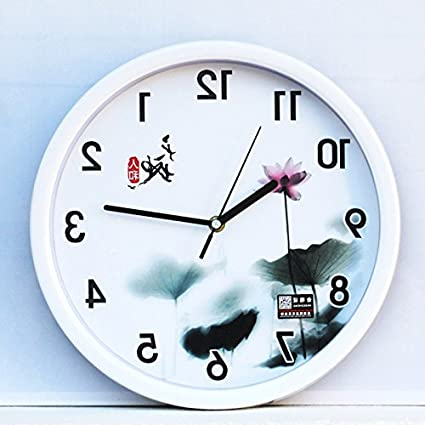 Amazon.com: Y-Hui Mute Wall Clock Children\'S Bedroom Living ...