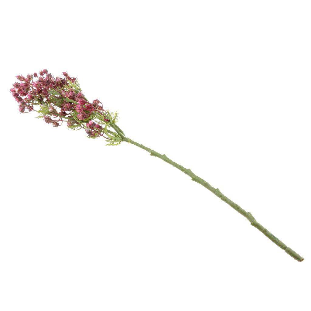 FLAMEER 21-24 Pouce Artificielle Valentine Fruit Herbe D/écoratif Plante Verte Feuillage Bouquet De Fleurs Bouquet De F/ête De Mariage D/écor 5 Couleurs S/électio Rose