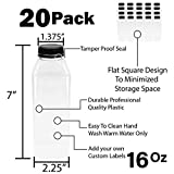 Empty PET Plastic Juice Bottles - Pack of 20