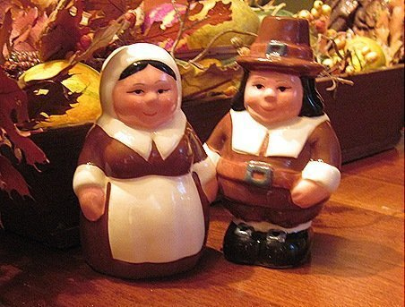 (The Pilgrim Pair, Encore Edition, Animated Salt & Pepper Shakers Set From the Publix Television Commercial. Thanksgiving Pair of Collectable Characters)