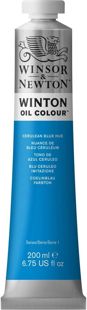 Winsor & Newton Winton Oil Colour Paint, 200ml tube, Cerulean Blue Hue (WOC1437-138)