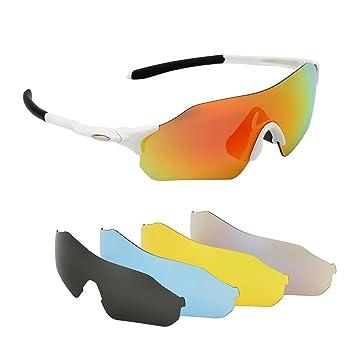 Issyzone Gafas de Ciclismo Gafas de Sol Deportivas Polarizadas UV 400 De Lentes Intercambiables para Hombre Mujer (XQ-515): Amazon.es: Deportes y aire libre