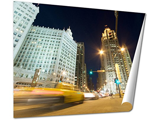 Ashley Giclee Fine Art Print, Traffic On Michigan Avenue In Chicago, 16x20, - Chicago Avenue Buy Michigan Best