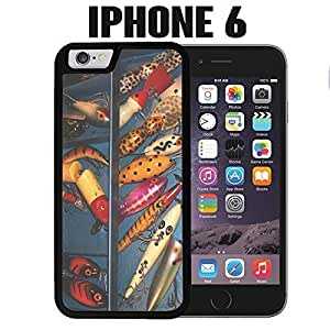 iPhone Case Fishing Bait Tackle Box for iPhone 6 Rubber Black (Ships from CA)