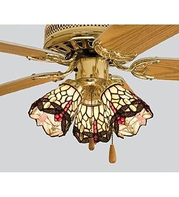 Meyda 4 Inch W Tiffany Scarlet Dragonfly Fan Light Shade Ceiling Fixture 99245