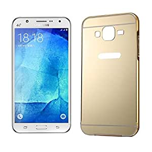 Push-pull Style Metal Plating Bumper Frame + Acrylic Back Cover Combination Case for Samsung Galaxy J5 (Gold)